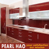 Fashionable Red Lacquer Wood Kitchen Cabinet