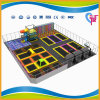 CE Approved Professional Trampoline Park with Climb Wall (A-15253)