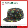 Colorful Design Snapback Hat with Woven Applique Embroidery