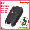 Keyless Flip Remote Smart Key for Chevrolet with 2 Buttons Ask433MHz ID46 Chip Hu100 blade