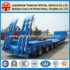 Military Heavy Machine Transport Lowboy Semi Truck Trailer
