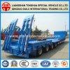 Military Heavy Machine Transport Lowboy Semi Truck Trailer