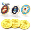 Wholesale Factory Price No Minimum Order Custom Challenge Coin Embossed Brass Silver Gold Metal 3D Coins