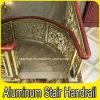 Interior Luxury Hotel Spiral Stair Aluminum Brass Handrail