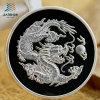 2017 Stamping 3D Dragon Logo Custom 999 Silver Souvenir Coins