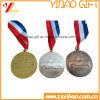 Wholesale Zinc Alloy Metal Sports Medal with Customized Logo Ribbon