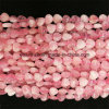 Semi Precious Stone fashion Natural Crystal Rose Quartz Hearted Bead