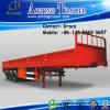 3 Axles Cargo Trailer, Side Board Semitrailer, Side Boards Flatbed Semi Trailer, Flatbed with Side Wall, Open Side Board Cargo Semi Trailer, Side Wall Trailer
