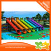 2017 Rainbow Plastic Soft Slide Outdoor Water Slide for Sale