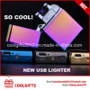 Windproof Metal USB Charning Lighters Double Arc Electric Induction Lighter