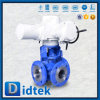Didtek Petrochemical Wcb Pneumatic Carbon Steel 3 Way Ball Valve