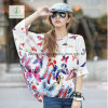 2017 New Design Chiffion Batwing Loose Shirt Factory Direct