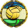 3D Enamel Volleyball Souvenir Medal