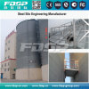 Well-Ventilated Cereals Storage Silo with Flat Bottom