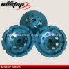 D100mm Threaded Connection Double Row Grinding Cup Wheel