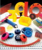 PU Parts, Polyurethane Parts with Yellow, Blue, Red Color