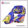2015 Hot Petal Prints 100% Polyester Fashion Silk Scarf (SNQNG2007)