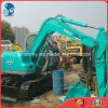 Used Mini Hydraulic Free-Revolving 0.1~0.5cbm/6000kg Green-Coat Kobelco Sk60 Crawler Excavator