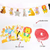 Cute Carton Printing Birthday Party Decoration Die-Cut Paper String Flag Banner / Party Decoration Flag Banner