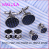 VAGULA Quality New Brass Gemelos Cufflinks Collar Studs in 6PCS Set (294)