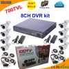 8 Channel DVR Kit with Sony 700tvl Bullet Camera