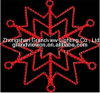 60*60cm CT-004 Red Large Hanging LED Snowflake for Christmas Decorations LED Holiday Motif Light