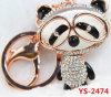 Rhinestone & Enamel Panda Shape Keychain