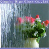 3.5-6mm Decorative Rain-B Patterned Glass for Bathroom Shower Enclosures