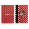 Polka Dots Leather Case with Stand for iPad Mini