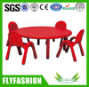 Good Quality Kids Study Round Plastic Table with Chair Set