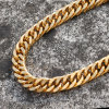 316L Stainless Steel Gold Cuban Link Chains Mjcn020