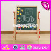New Design Adjustable Children Wooden Double Sided Drawing Board W12b107
