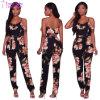 Aminah Black Floral Ruffle Jumpsuit L55344