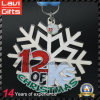 Custom Snowflakes Shape Running Souvenir Medal for Christmas