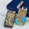 USB Charging Windproof Embossed 3D Dragon Lighter