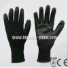13G Polyester Liner Black PU Coated Work Glove (5537. BL)