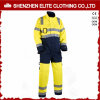 Fluorescent Yellow Poly Cotton Safety Protective Working Coverall