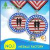 Sport/Running Honor Award Badge Medallion Box Army Blank Award Medals with Ribbon
