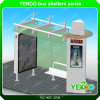 Outdoor Advertising Stainless Steel Bus Stop Shelter Bus Station