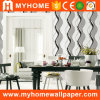 Modern Stripe PVC Washable 3D Wallpaper with Border