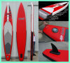 2015 Red Race Board, Inflatable Surfboard with Big Removable Fin