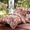 Luxury Home Textile Cotton Linen Satin Duvet Cover Set