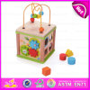 2015 New Educational Wooden Learning Cube Bead Maze Toy, Multifunctional Activity Cube Maze, DIY Wooden Children Cube Maze W11b069