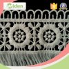 Fancy Floral Pattern Polyester Embroidery Lace Fringe