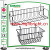 Supermarket Wire Mesh Bin Hanging Basket for Shelf Cross Bar