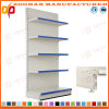 Factory Customized Steel Supermarket Wall Plain Back Panel Shelves (Zhs578)