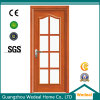 Fiberglass/Glass Wooden Full Lite Interior Door for Hotel Project