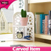 Desk Multifunction Corner Plastic-Wooden Small Shelf for Home