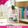 Desk Multifunction Corner Plastic-Wooden Small Shelf for Home