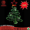 LED 2D Top Star Christmas Tree Motif Decorative Light for Holiday Event Decoration Ce RoHS